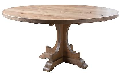 Amazoncom Caroline Round Pedestal Dining Table 48 Round