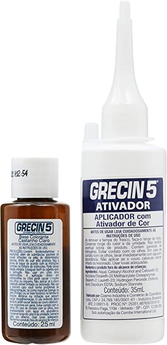 Shampoo Tonalizante 5 Castanho Claro 60ml, Grecin