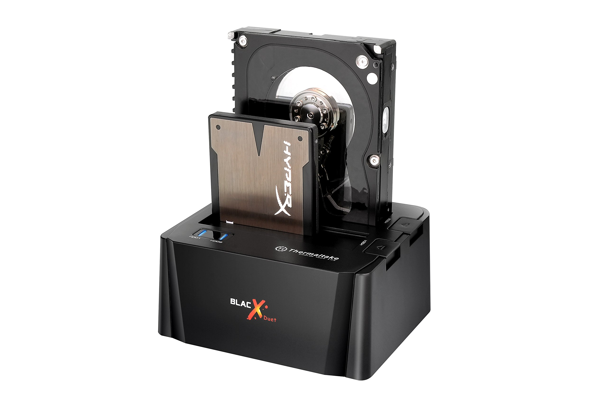 "Thermaltake BlacX Duet 2.5""/3.5"" SATA I/II/III USB 3.0 External Hard Drive Enclosure Docking Station ST0014U-D by Thermaltake"