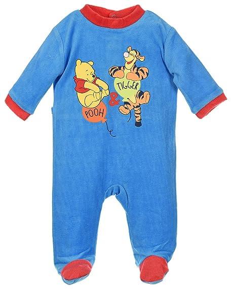 Pijama bebé niño Winnie the Pooh y Tigger Azul y naranja de 3 a 23 meses