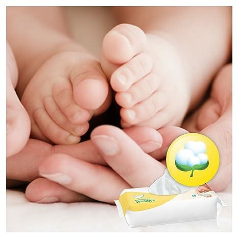 Pampers New Baby Wet Wipes Sensitive, Paquete de 12 (12 x 50 piezas): Amazon.es: Salud y cuidado personal