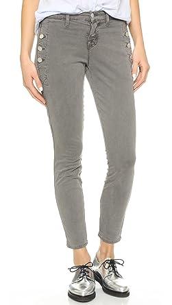 J Brand Women's Zion Mid Rise Skinny Jeans, Distressed Silver Fox, ...