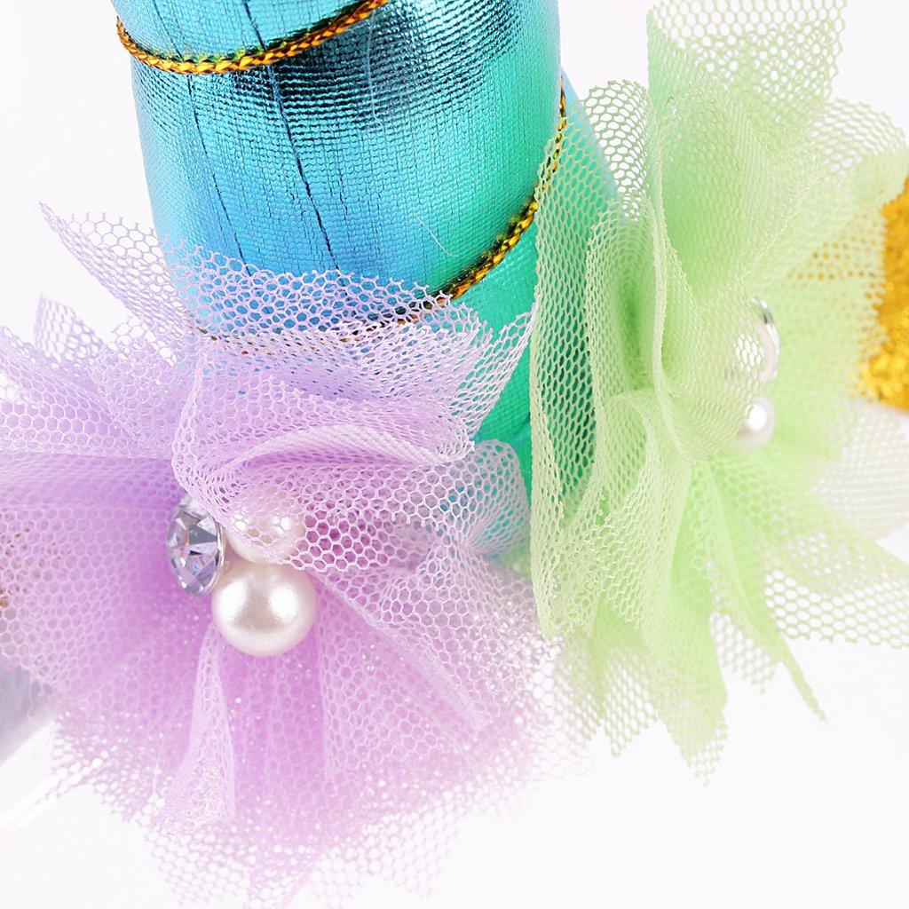 b8ecdcd241d2 MagiDeal Serre-tête Licorne Floral Bandeau aux Oreilles Corne Accessoire  Déguisement pour Enfants Filles -