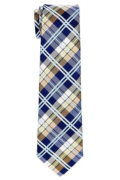 6f543bd08 Retreez - Corbata - Cuadrados - para niño Marineblau Und Khaki 8-10 Años   Amazon.es  Ropa y accesorios