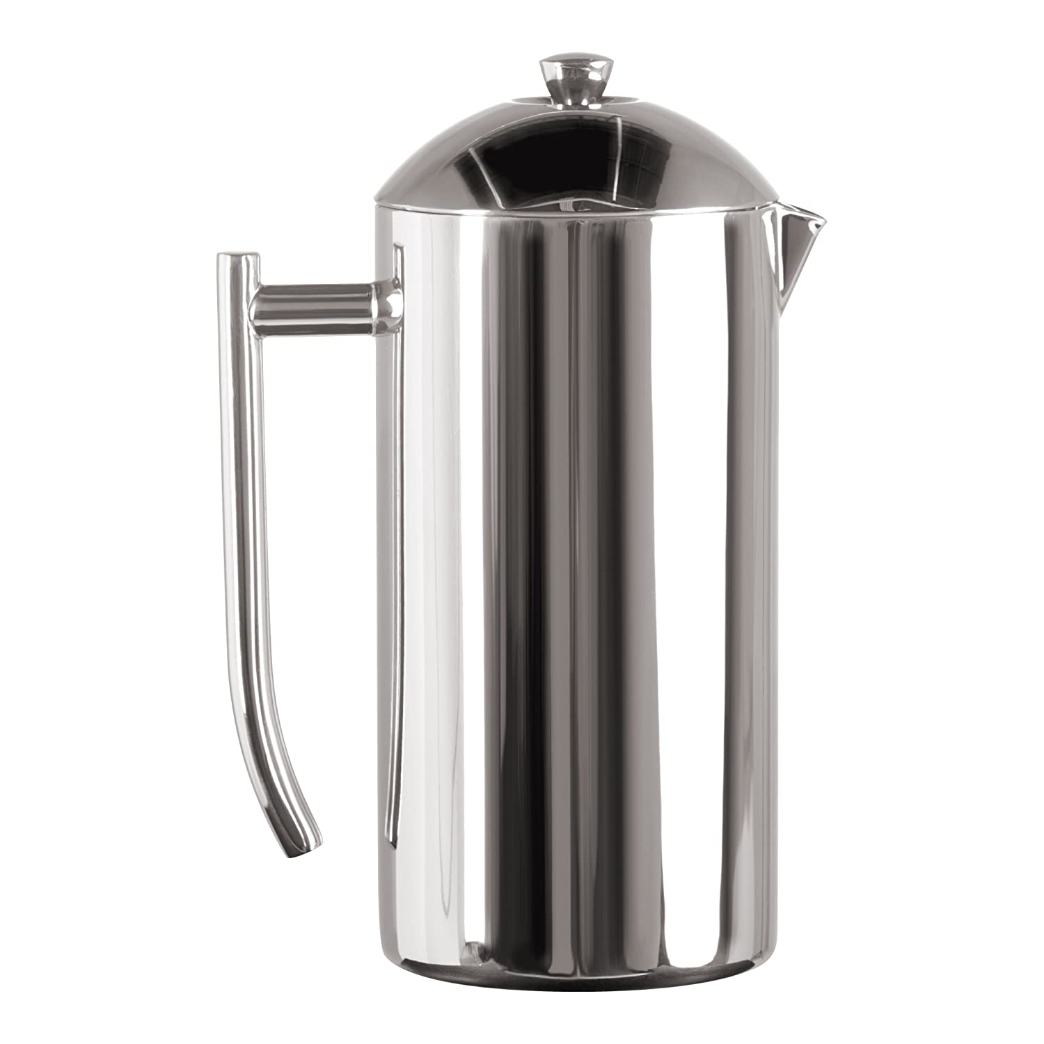 Frieling USA Double Wall Stainless Steel French Press Coffee Maker with Zero Sediment Dual Screen, Polished, 44-Ounce