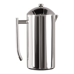 Frieling USA 130 Double Wall Stainless Steel French Press Coffee Maker with Patented Dual Screen 44 Ounce Polished