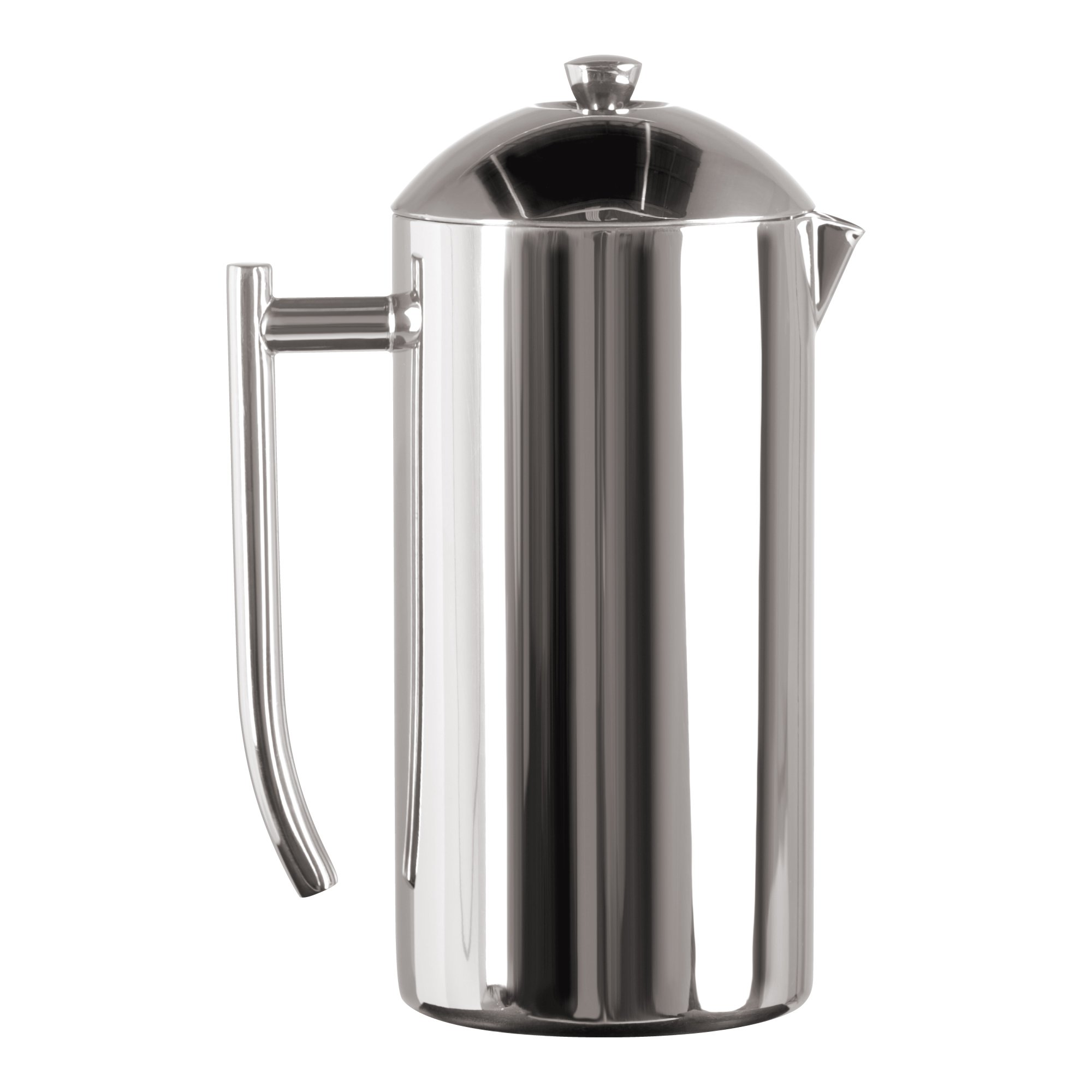 Frieling USA Double Wall Stainless Steel French Press Coffee Maker with Patented Dual Screen in Frustration Free Packaging, Polished, 44-Ounce