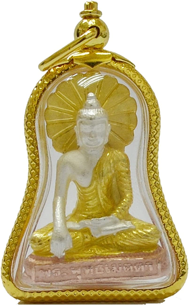 Buddha Jewelry Gift Thailand Amulets Pra Pudta Medta Pendants for Wealth and Lucky Strong Life Protection