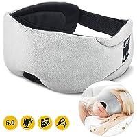 Sleep Headphones | Bluetooth 5.0 Sleeping Headphones Mask, Flashmen Wireless Bluetooth Sleep Headphones Stereo Sleep Eye Mask Headphone with Speaker Mic for Sleeping Travel Audio-Book Music SK-2BT