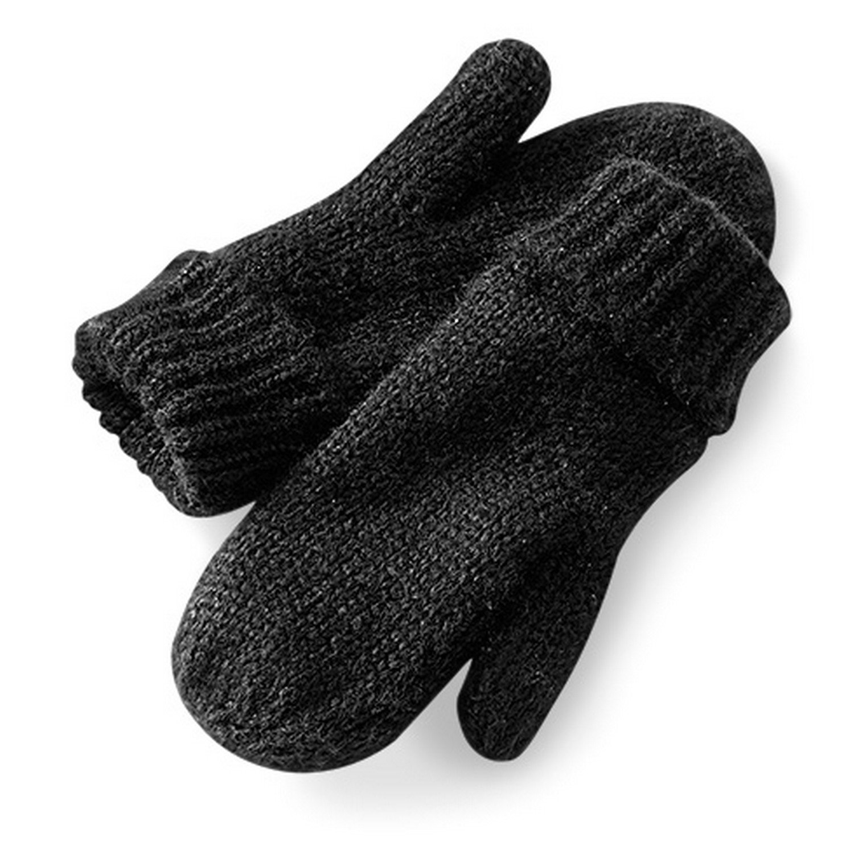 Beechfield Womens/Ladies Bardot Shimmer Mittens/Gloves (One Size) (Stardust Black) UTRW4084_2
