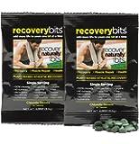 RECOVERYbits Chlorella Algae Tablets Organically Grown, Cracked Cell Wall, Non-GMO, vegan, paleo, ketogenic, raw. 100% pure green Chlorella Pyrensoidosa, a plant-based, 2 Single Servings