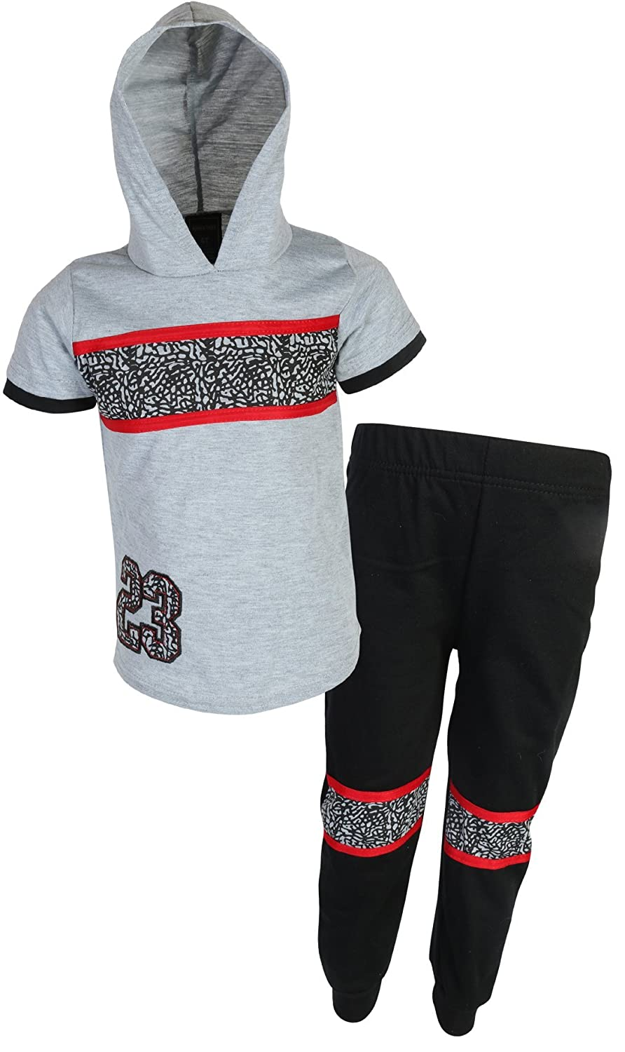 888860d99fb0f8 Short Sleeve Top with Hood for Added Warmth Cuffed Pants for an Extra  Secure Fit Two Piece Track Set with Hoodie and Matching Bottoms