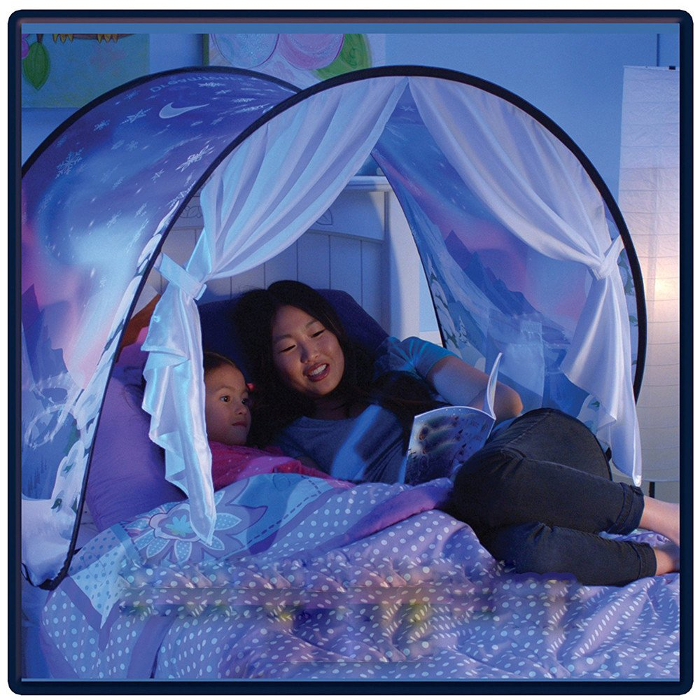 Twin Size Pop Up Bed Tents for Boys Girls Moon Night Wonderland Children Kids Sleeping Mosquito Net Bed Tent Mumustar Unicorn Bed Tents for Girls