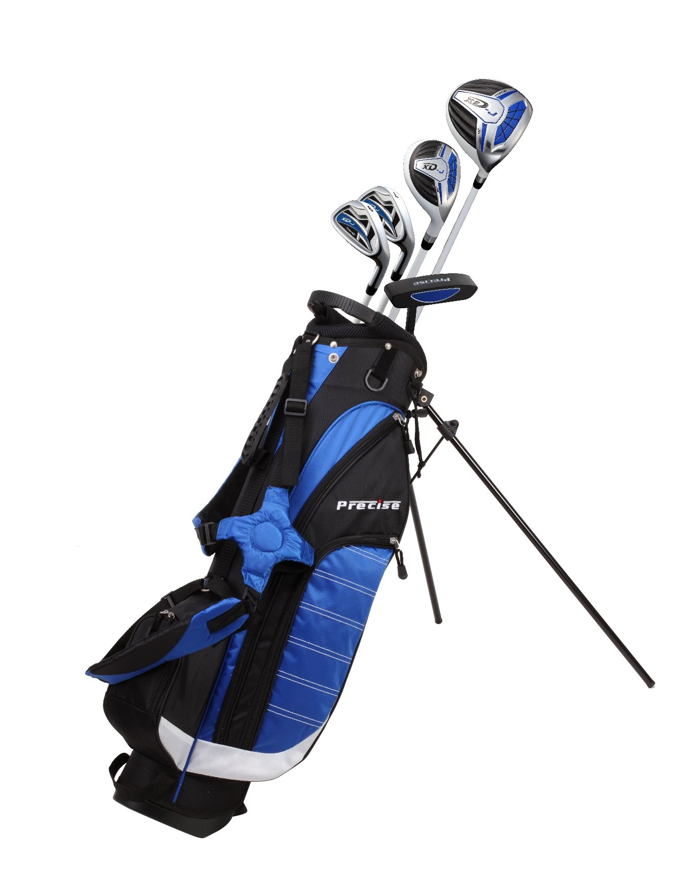 Precise XD-J Junior Complete Golf Club Set for Children Kids - 3 Age Groups Boys & Girls - Right Hand & Left Hand! (Blue Ages 9-12, Right Hand) by PreciseGolf Co.