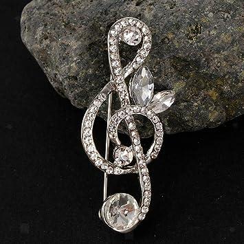 Amazon Com Crystal Rhinestone Brooch Pin Wedding Bridal Music