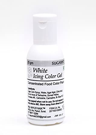 Sugarin Icing Color Gel for Fondant, White, 25 gram: Amazon.in ...