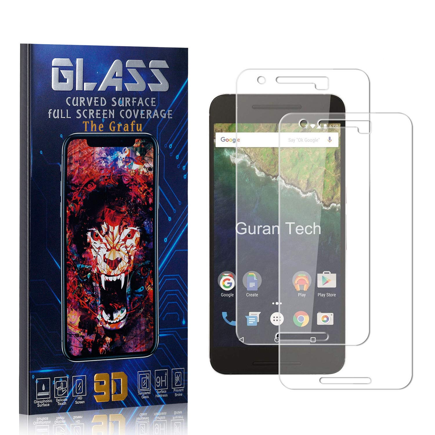 The Grafu High Transparency Screen Protector for Huawei Honor 10i Huawei Honor 10i Tempered Glass Screen Protector Bubble Free 2 Pack Easy Installation