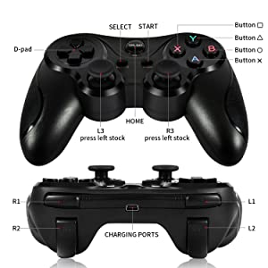 ?Newest Version? TPLGO 600 mAh High Capacity Wireless Controller for PS3, Sixaxis Remote Gamepad for Sony Playstation 3 with 6 Feet Charging Cable with Gift Wrap.