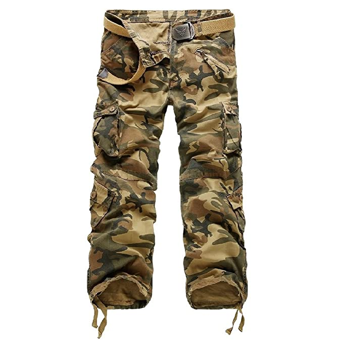 81d4b583d4 AYG Pantalon Cargo Hombre Mens Cargo Pants Trousers Militar Laboral 29-40   Amazon.es  Ropa y accesorios