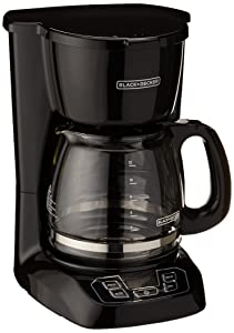 Black & Decker BCM1410B 12-Cup Programmable Coffeemaker with Glass Carafe