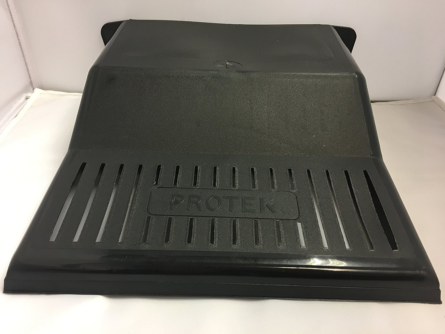 BLACK PLASTIC DRAIN COVER. DURABLE. SLOTTED GRILL. RAISED BACK. 30 x 30 x 9cm. Protek