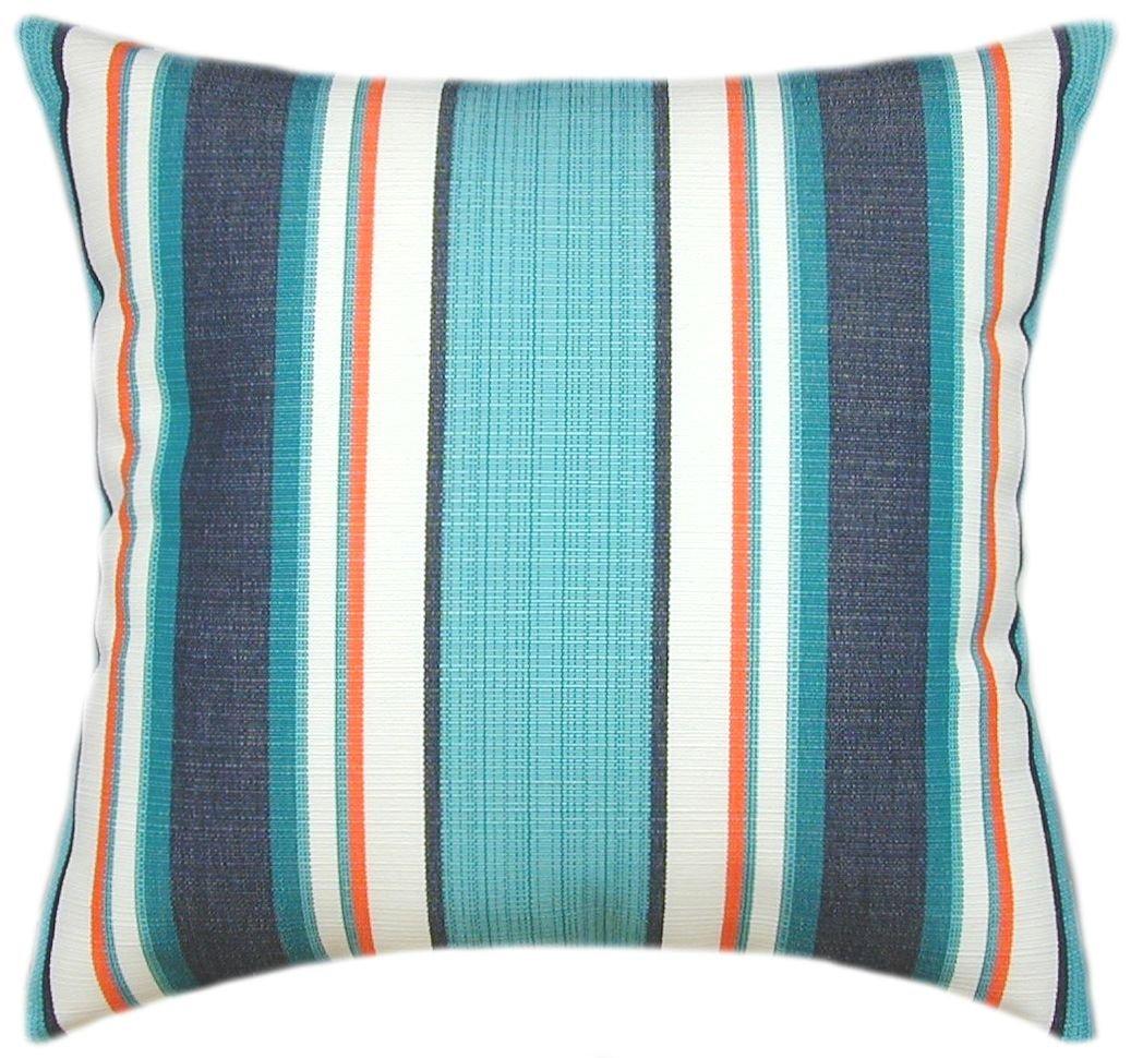 Sunbrella Token Surfside Indoor/Outdoor Striped Patio Pillow 18x18