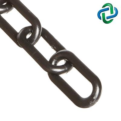 Mr. Chain Heavy Duty Plastic Barrier Chain, Black, 2-Inch Link Diameter, 25-Foot Length (51003-25): Industrial & Scientific [5Bkhe2002275]