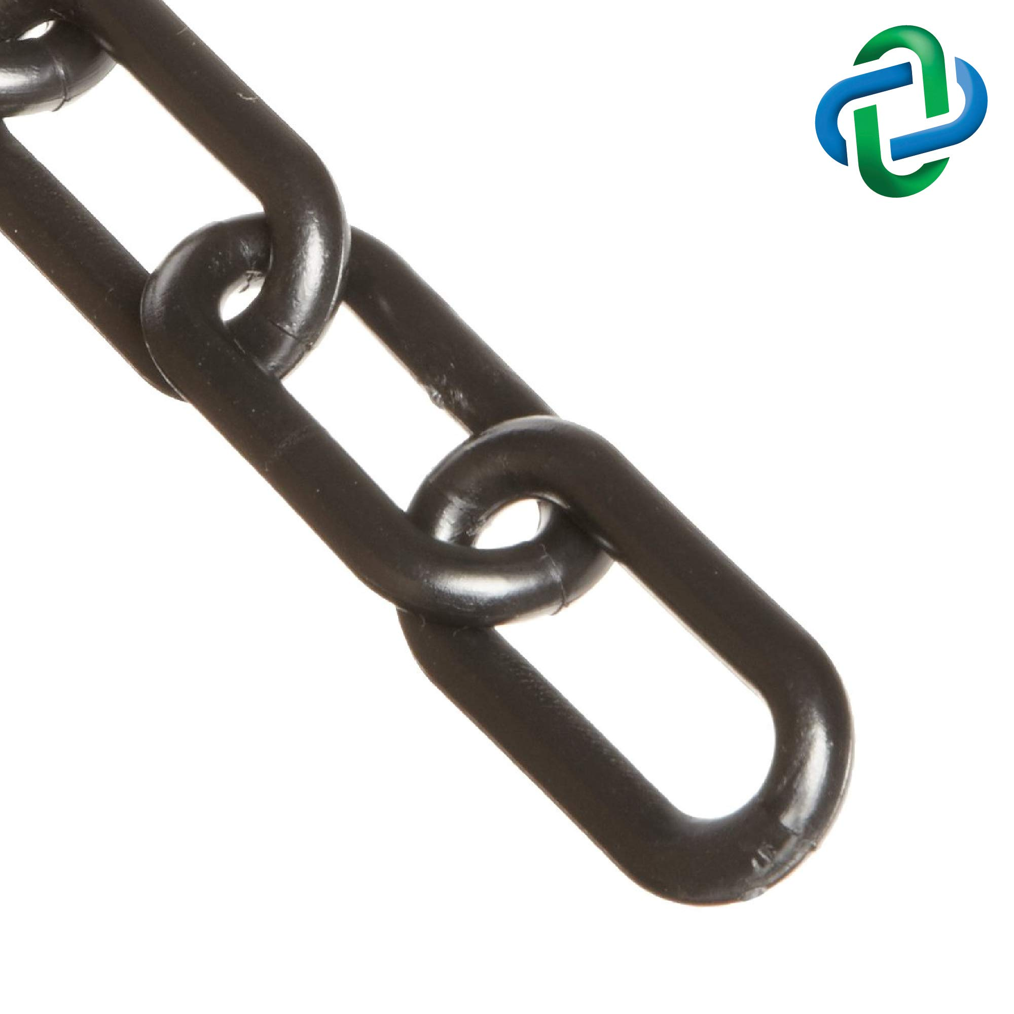 Mr. Chain Plastic Barrier Chain, Black, 2-Inch Link Diameter, 25-Foot Length (50003-25) by Mr. Chain