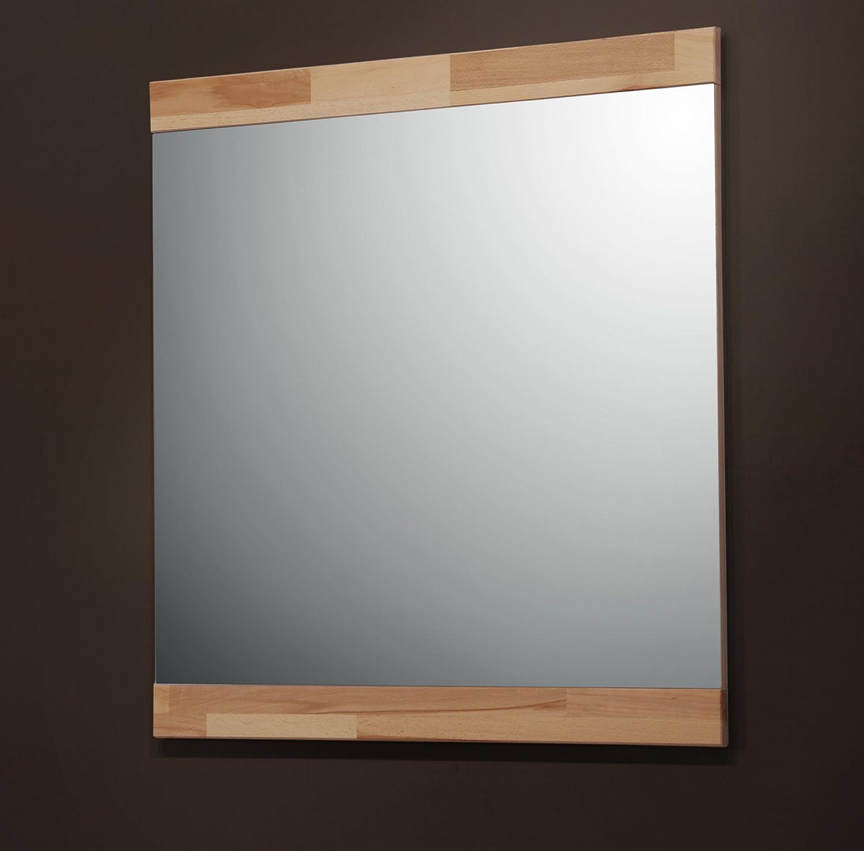 7154-1   Garderobenspiegel od. Wandspiegel 80x80cm, mit Rahmen in in in Kernbuche massiv 503091