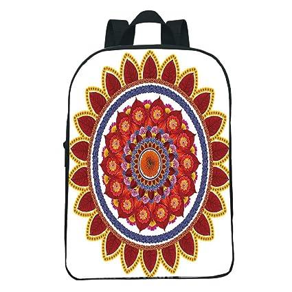 05c7b60272b0 Amazon.com: iPrint Personal Tailor Mini Black knapsack,Red Mandala ...
