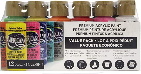 DecoArt Americana – Pintura acrílica valor pack 12pc: Amazon.es: Hogar