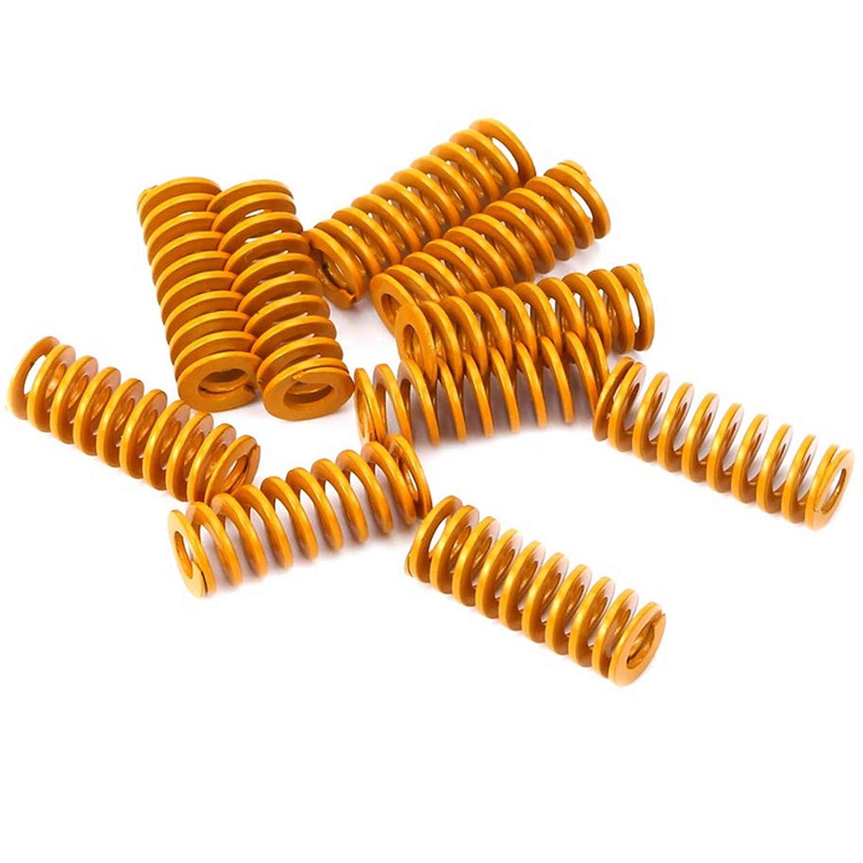 10 St/ück 30 x 10 x 5 mm Metall Tubular Abschnitt Form sterben Druckfeder 3D-Druckfedern Gelb leichte Last Ruesious Druckfeder