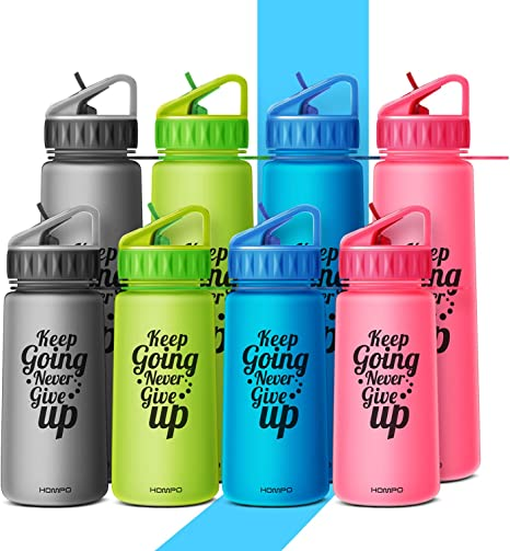 700ML BPA Free Plastic Sports Water Bottle With Straw Gym Cycling Running