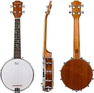 Kmise 4 String Banjolele Banjo Ukulele Uke Banjo lele Concert 23 Inch Size Sapele Wood