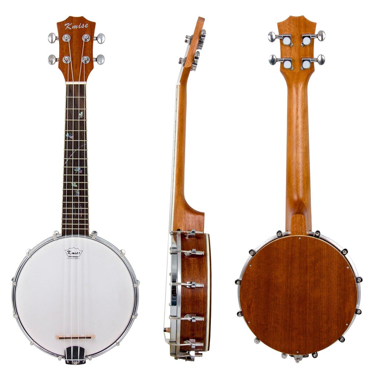 Kmise 4 String Banjo lele Ukulele Uke Concert 23 Inch Size (Type 7)