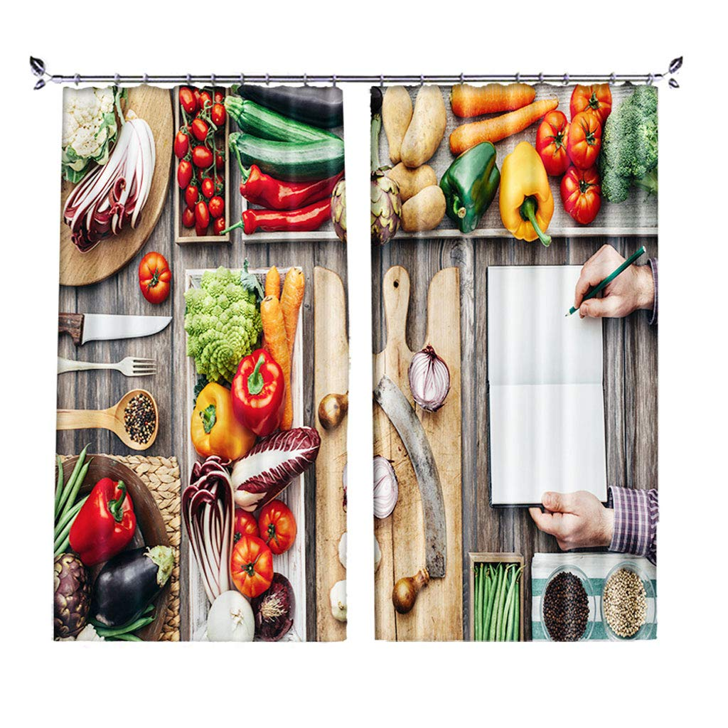 ZZHL Curtains Curtains,Hooks Rings Blackout Set Thermal Insulated Window Treatment Solid Eyelet Bedroom 2 Panels A5 (Size : 1x1.6m)