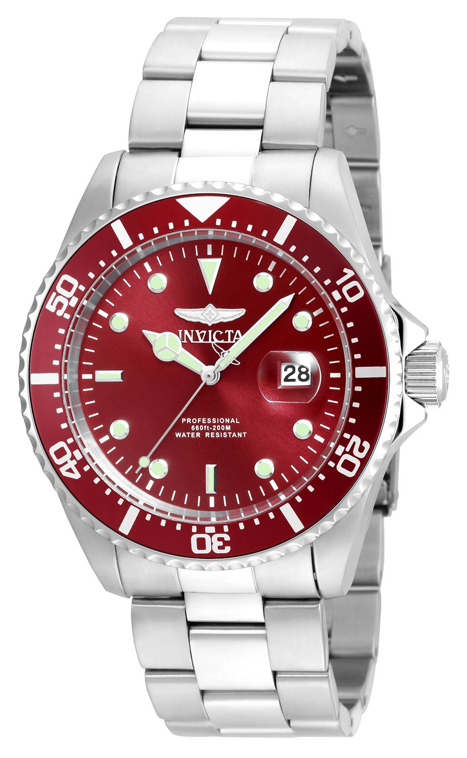 Invicta Men's Pro Diver Quartz Diving Watch with Stainless-Steel Strap, Silver, 22 (Model: 22048)