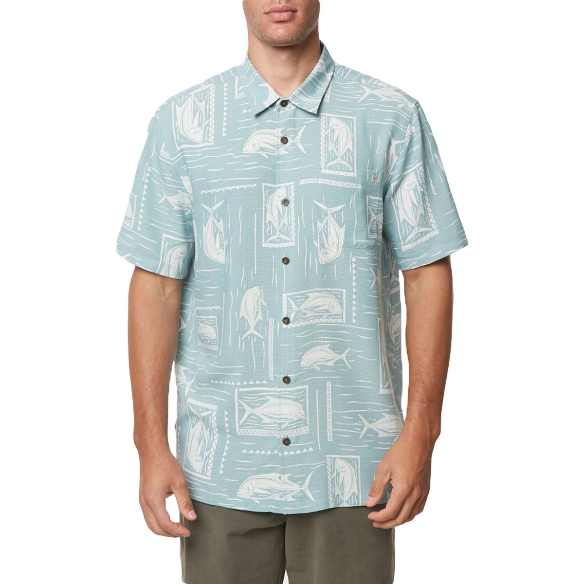 O'Neill Men's Jack Waters Shirts,Medium,Sea Glass