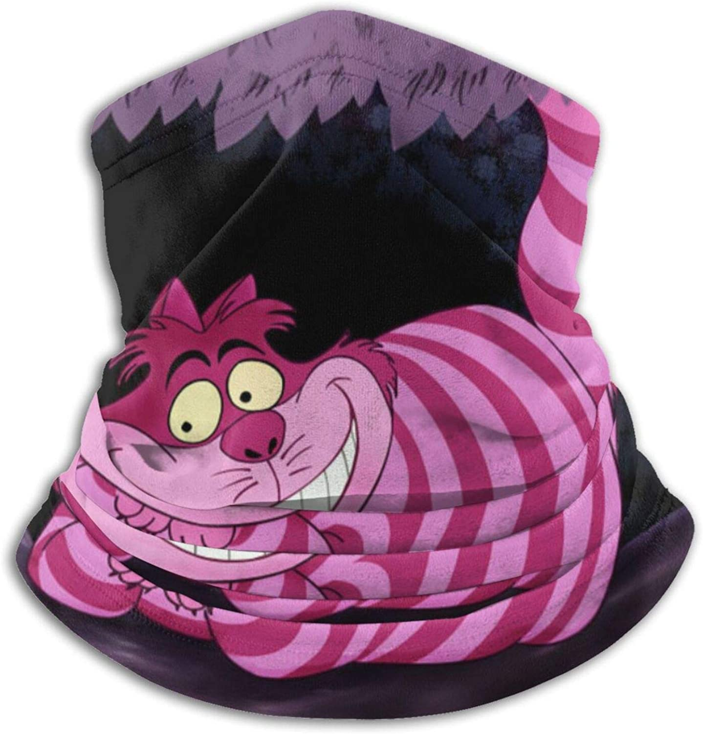 ZVEZVI Biker Snood Face Cover for Men and Women Outdoor Sports//Motor//Cycling ,Alice in Wonderland Cheshire Cat Adult Neck Warmer Bandanas Washable and Reusable Comfortable