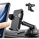 4 in 1 【Ultra Sturdy & Durable】 Car Phone Holder【Easy One Hand Use】 Anwas Dashboard Air Vent Windshield Cell Phone Mount…