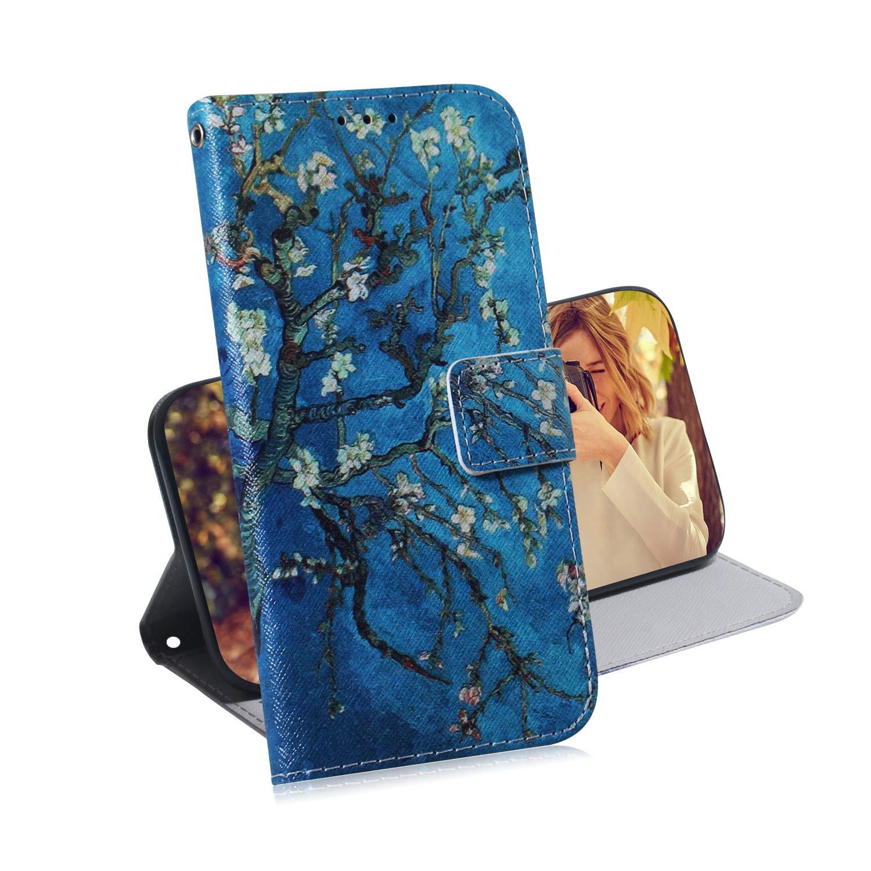 H/ülle Leder NETXI140086#6 NEXCURIO Galaxy J6+ Handyh/ülle Tasche Leder Flip Case Brieftasche Etui mit Kartenfach Sto/ßfest Kratzfest Schutzh/ülle f/ür Samsung Galaxy J6 Plus J6Plus