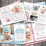 10 Personalised Boy Girl Christening Invitation Photo Cards Sbd42