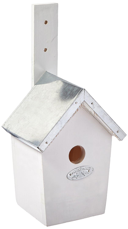 Esschert  - Casa para pá jaros, color blanco NKWW