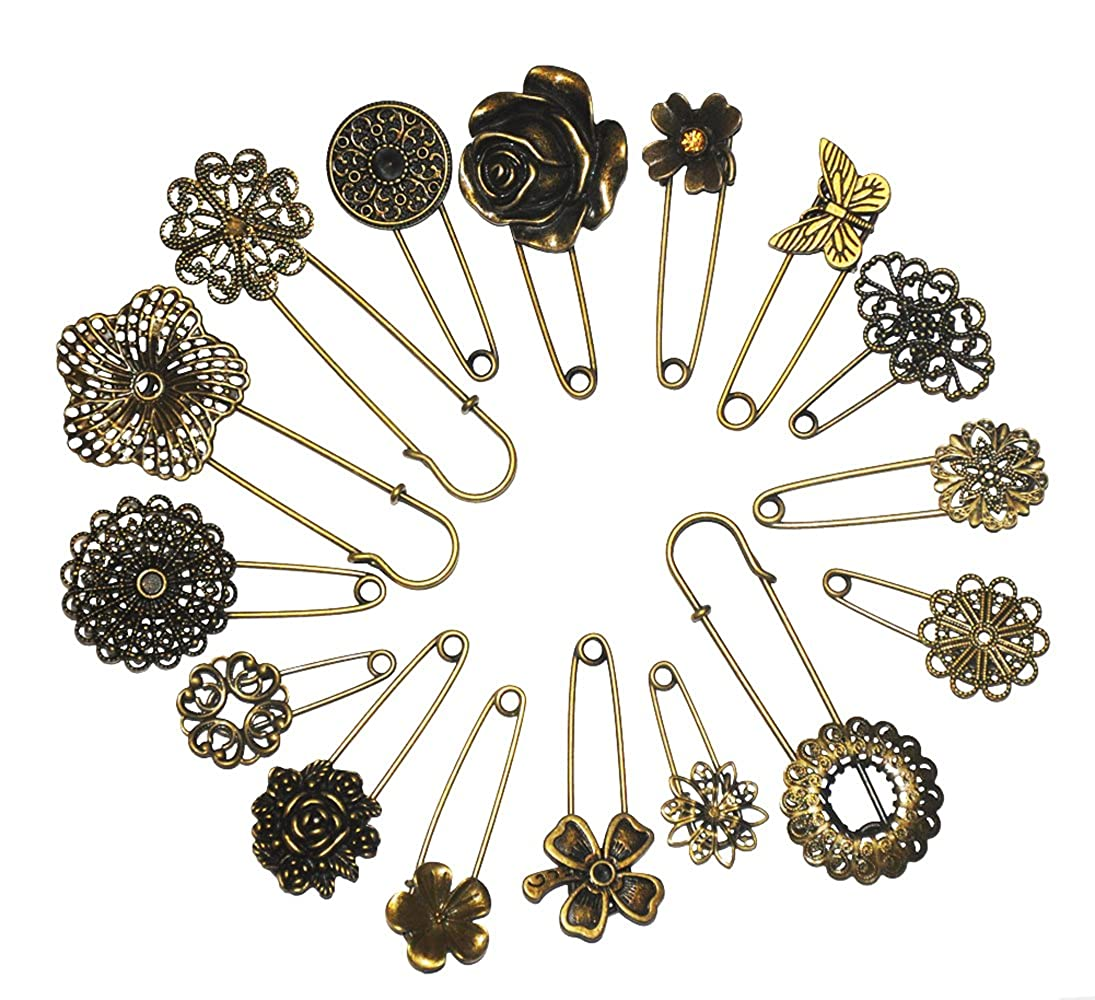 Assorted Contemporary Hijab Pins Set Of 5 Brooches Pashmina Kerudung Pk2 23 And Jewelry