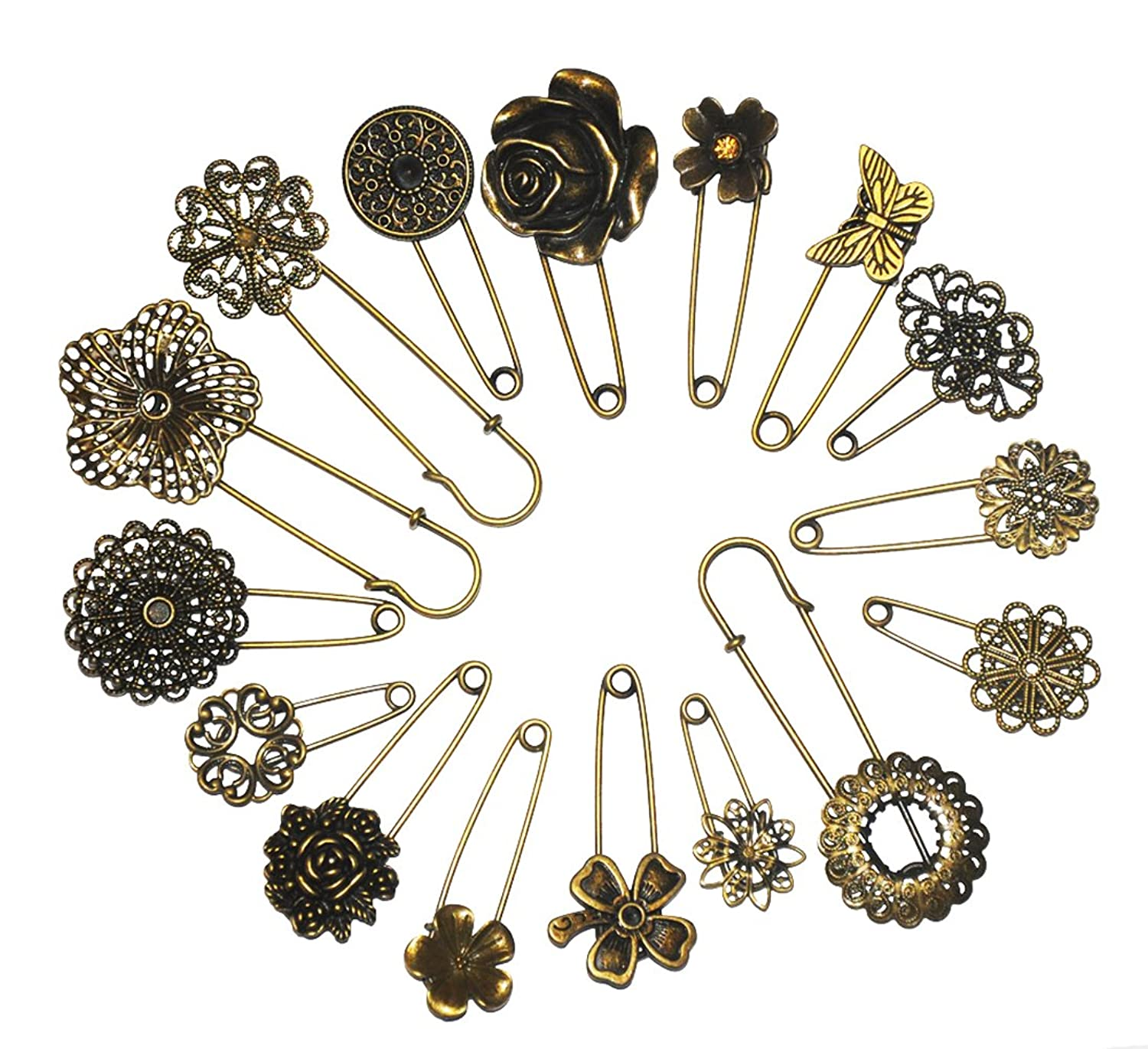 Amazon.com: Assorted Contemporary Hijab Pins (Set Of 5): Brooches And Pins:  Jewelry