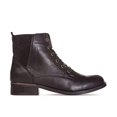 45c9853c274 Truffle Collection Womens Womens Lace Up Ankle Boots in Black - UK 7 ...
