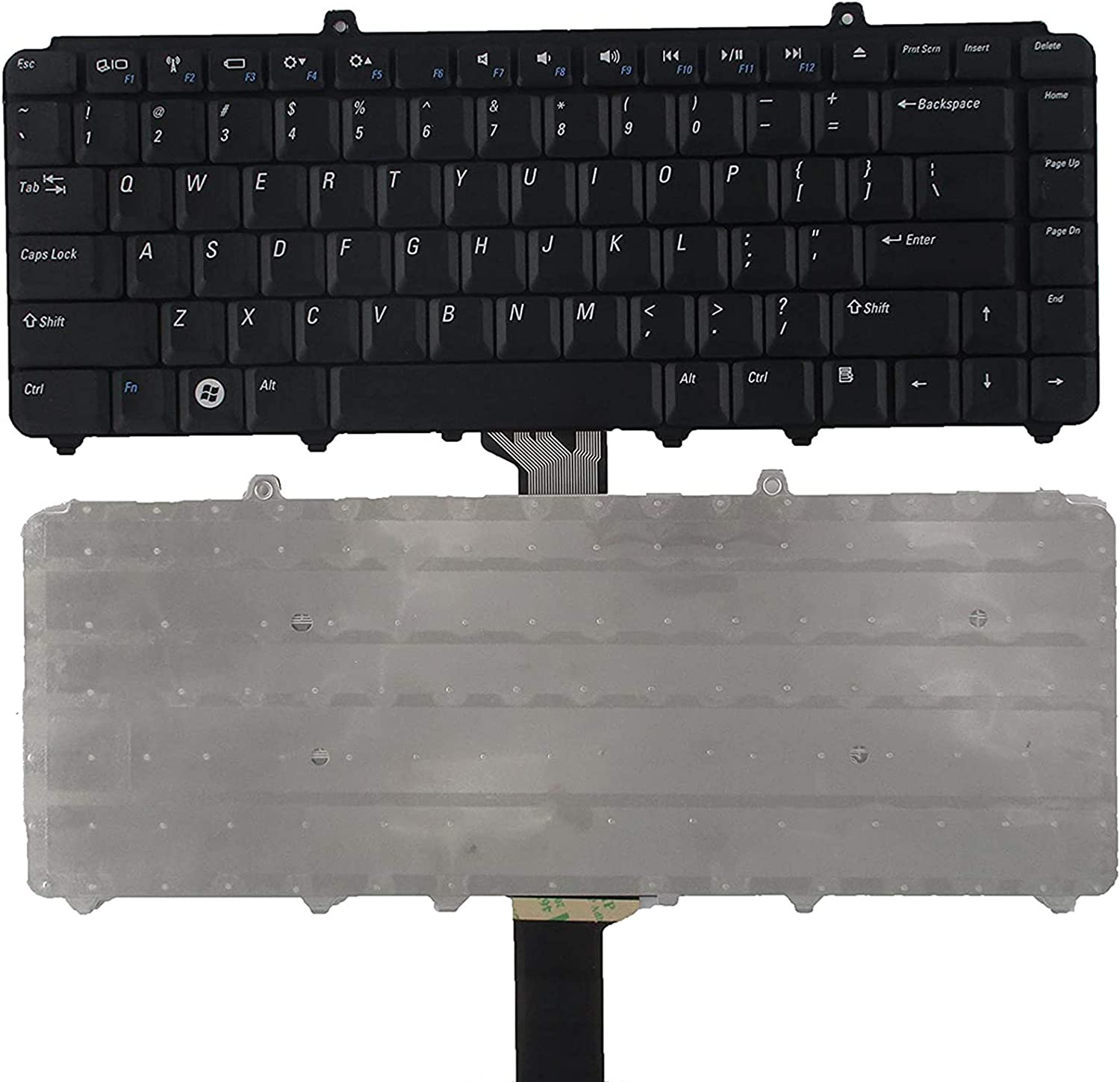 SUNMALL Keyboard Replacement Compatible with Dell Inspiron 1318 1520 1521 1525 1525se 1526 1526se 1545 1546, Vostro 1400 1410 1420 1500, XPS M1330 M1530 0NK750 9J.N9283.001 NSK-D9001 Laptop