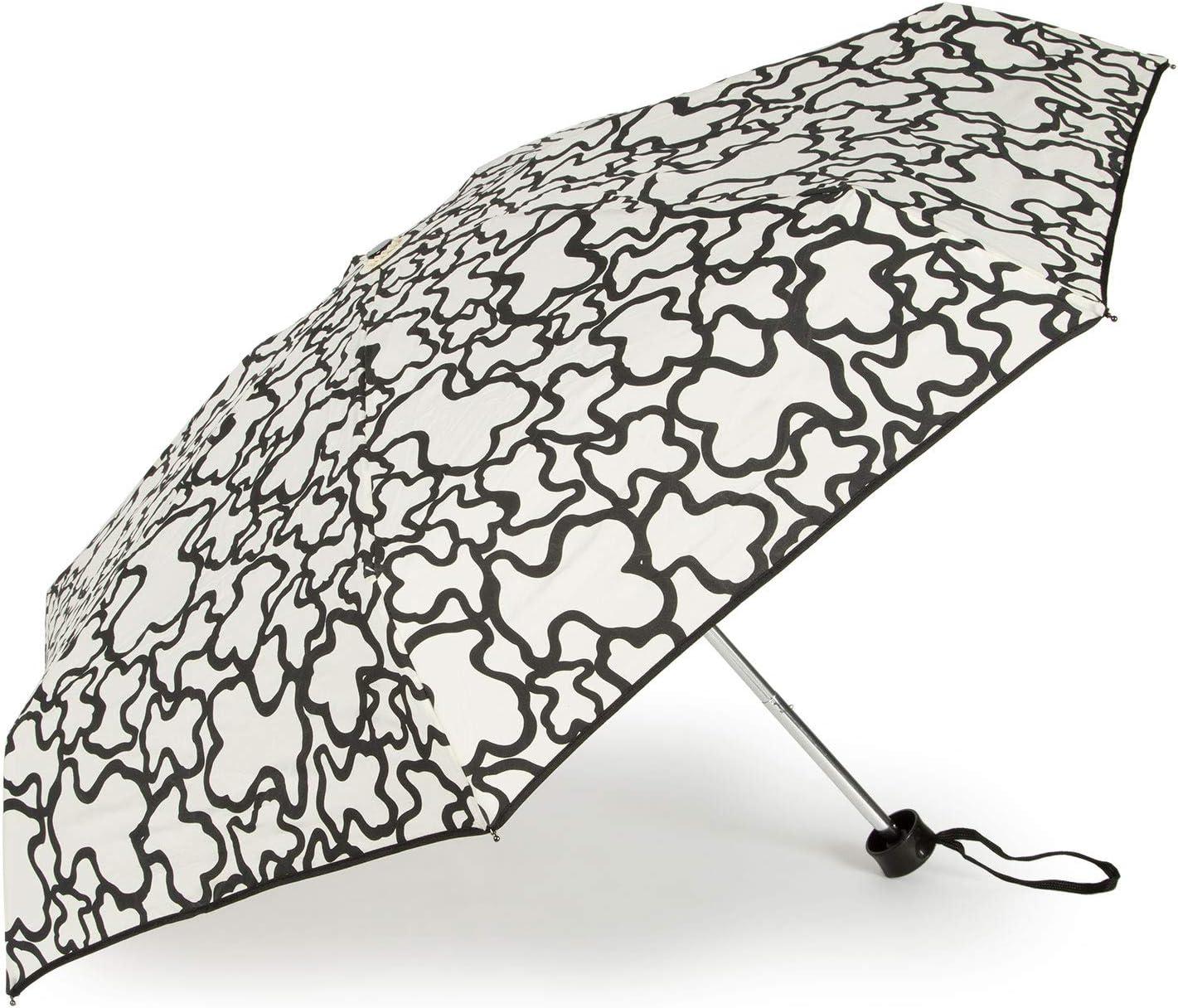 Paraguas Tous mini plegable Kaos en color arena-negro: Amazon.es: Equipaje