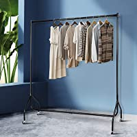 6FT Clothes Rail Metal Garment Display Rolling Racks Hanger Airer Stand Portable