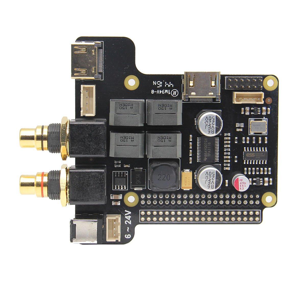 B LaDicha Carte DExtension X5000 Audio Player pour Raspberry Pi 3 Mod/èle B 2B